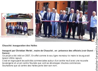 inauguration des Halles
